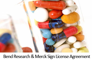 Bend Research & Merck Sign License Agreement