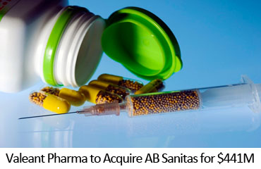 Valeant Pharma to Acquire AB Sanitas for $441M