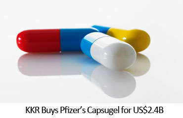 KKR Buys Pfizer's Capsugel for US$2.4B