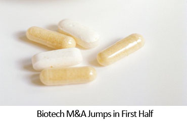 Biotech M&A Jumps in First Half