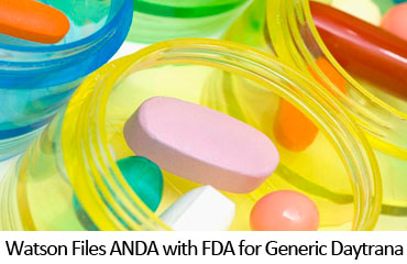 Watson Files ANDA with FDA for Generic Daytrana