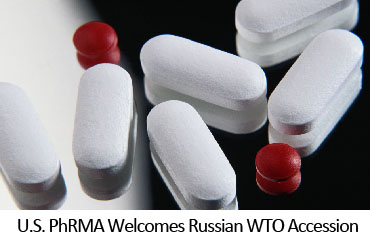U.S. PhRMA Welcomes Russian WTO Accession