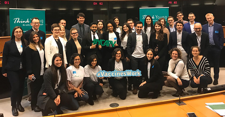 YC4PV presents vaccine awareness manifesto to European Commission