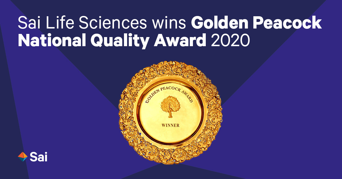 Sai Life Sciences wins Golden Peocock National Quality award