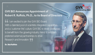 GVK BIO Announces Appointment of Robert R. Ruffolo, Ph.D., to its Board of Directors