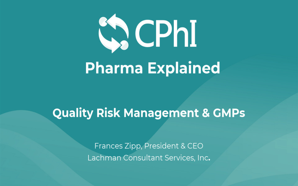 Pharma Explained: What is Quality Risk Management & cGMPs?