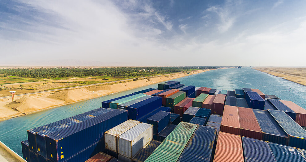 Nutrition additive supply chains 'nervous' as Suez blockage continues