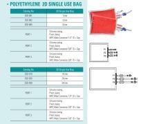 POLYETHYLENE 2D SINGLE USE BAG