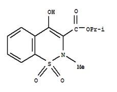 4-HYDROXY, 2-METHYL, 2H,1,2-BENZOTHIAZINE CARBOXYLIC ACID ISOPROPYL ESTER-1,1-DIOXIDE