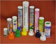 tubes and caps for the packaging of effervescent tablets
