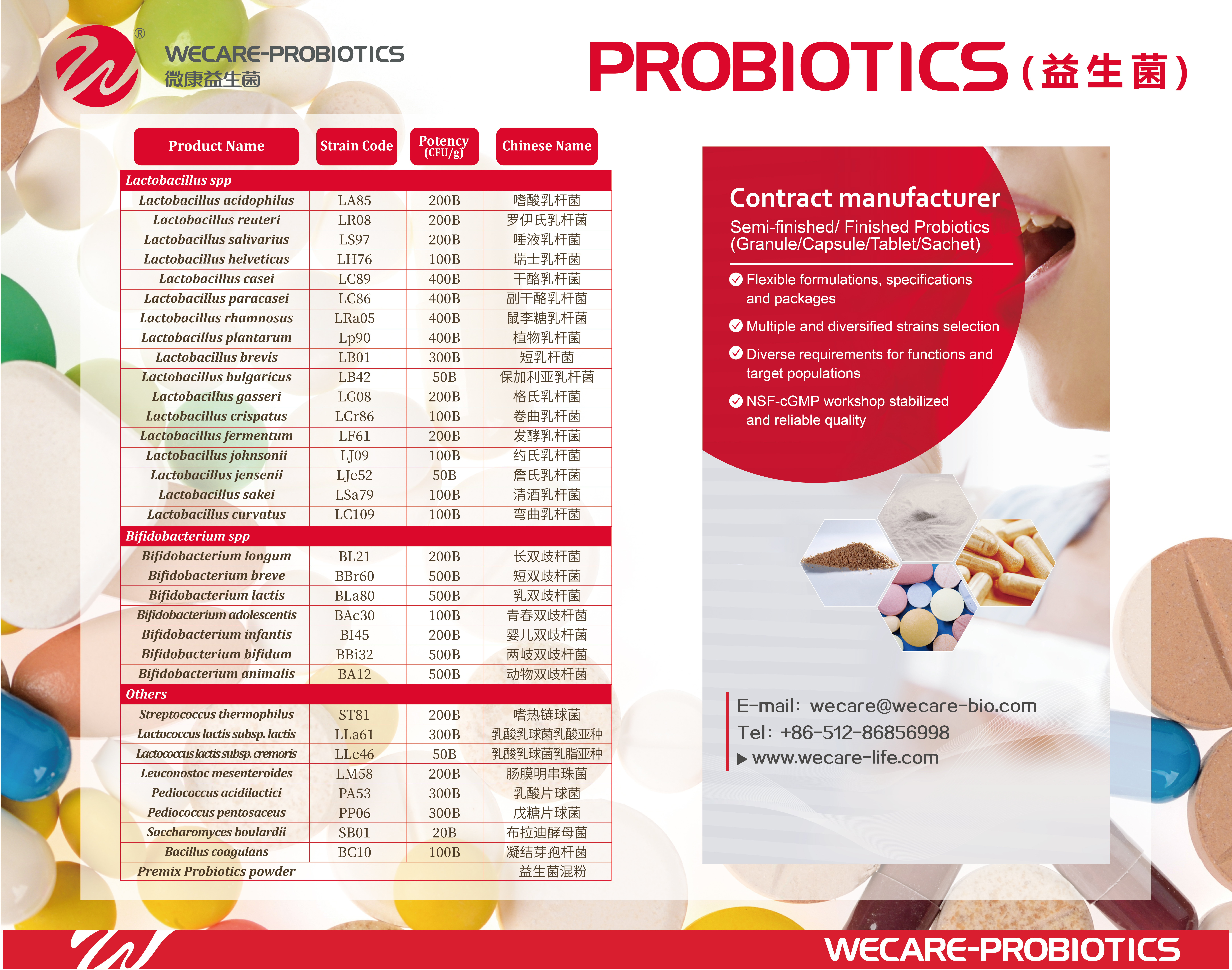Probiotics powder