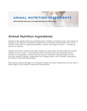 ScanDroitin™ - Animal Nutrition Ingredient