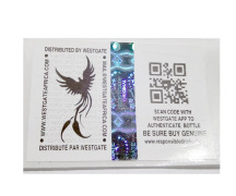 QR Code with Holographic strip