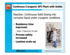 GMP Modular Continuos Manufacturing API Plant with Solids
