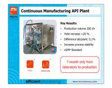 Continuous Manufacturing API Plant