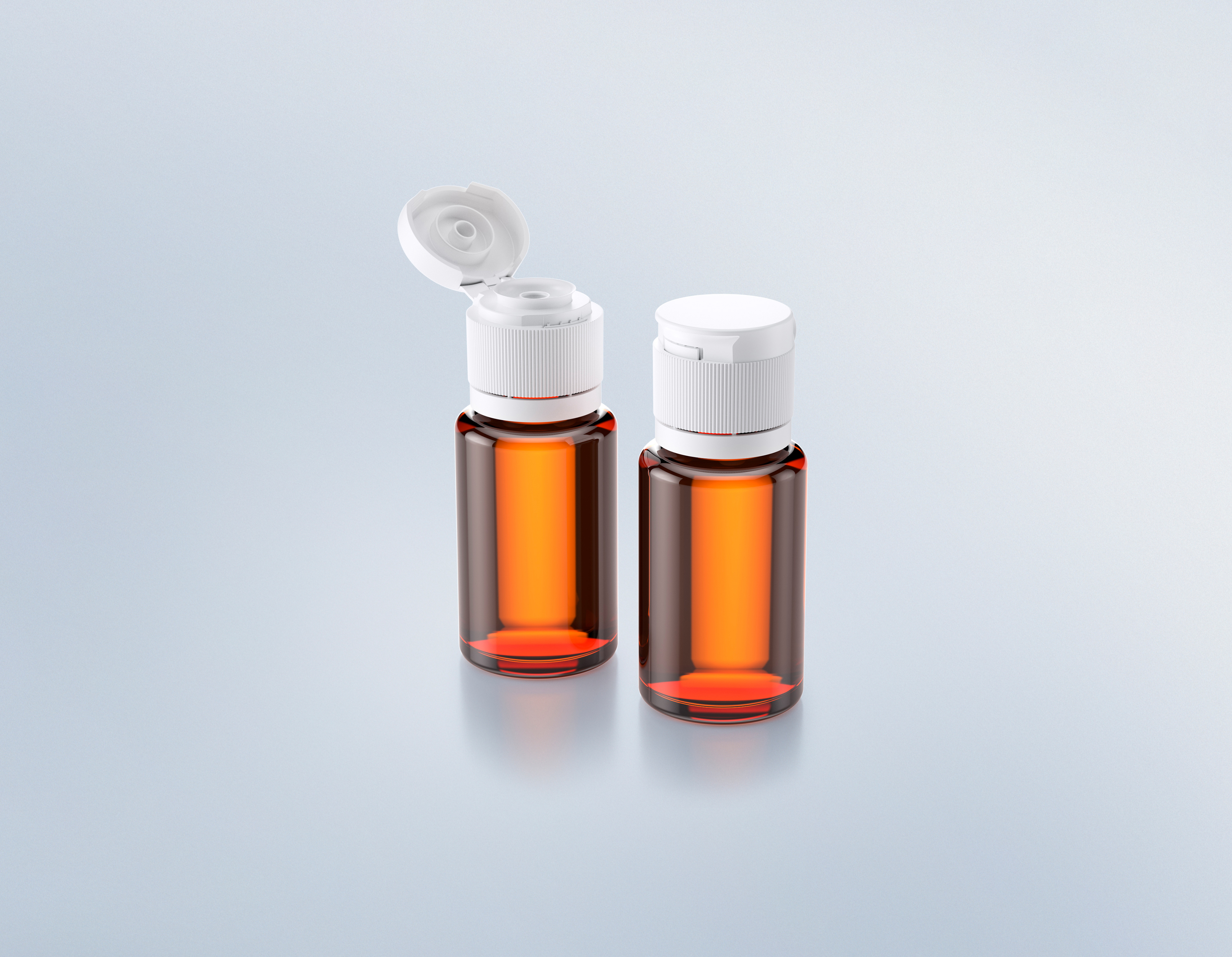 Flipdropper - Single-Piece Flip Top Cap with Tamper-Evidence and integrated Drip Function