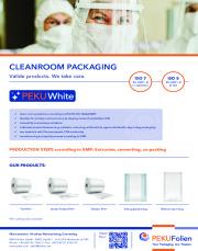 PEKUWhite - Cleanroom packaging