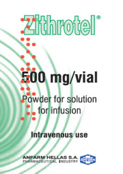 Azithromycin Pd.Sol.Inf 500mg/Vial (EU CTD Available)