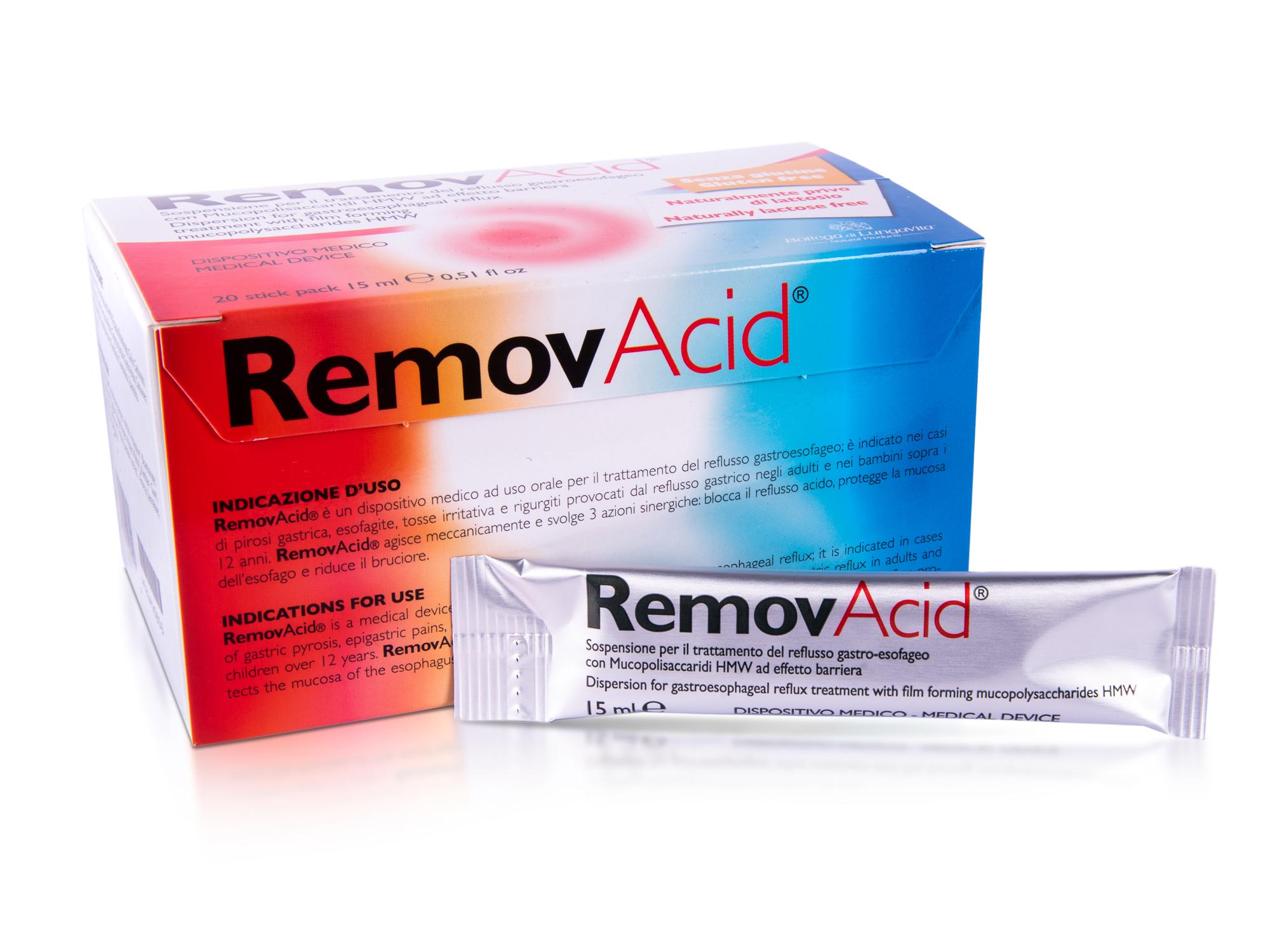 REMOV ACID - MEDICAL DEVICE FOR GASTRIC REFLUX
