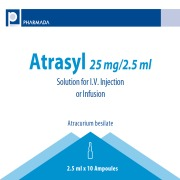 Atracurium besylate (ATRASYL) 25 MG/2,5 ML SOLUTION FOR I.V. INJECTION OR INFUSION