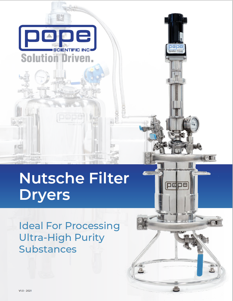 Pope Scientific Nutsche Filter Dryer Product Overview