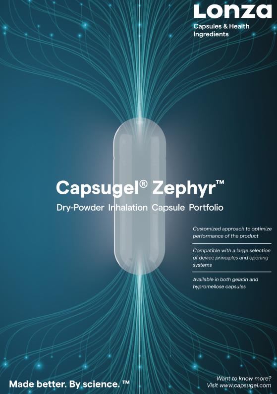 Capsugel®️ Zephyr™️ Dry-Powder Inhalation Capsule Portfolio