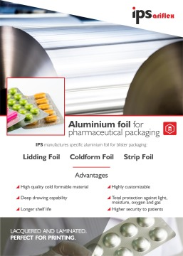 Aluminium foil for Pharmaceutical packaging