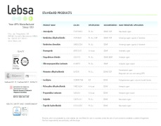 LEBSA List of commercial APIs - Your partner in APIs Manufacturing since 1951